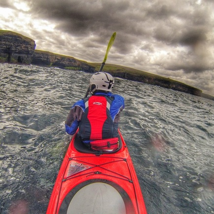David Horkan Kayaking on the west coast of Ireland with AT paddles