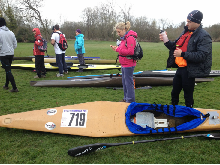 David Horkan at the Devizes to Westminster Kayak Race
