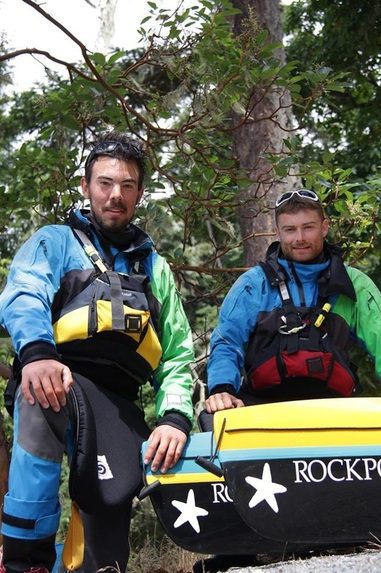 Joe Leach and David Horkan kayak Vancouver Island